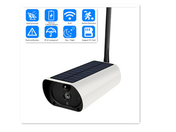 Outdoor Solar WiFi IP Camera 1080P HD  Charging Battery Wireless Security Camera PIR Motion Detection Bullet Surveillance CCTV
