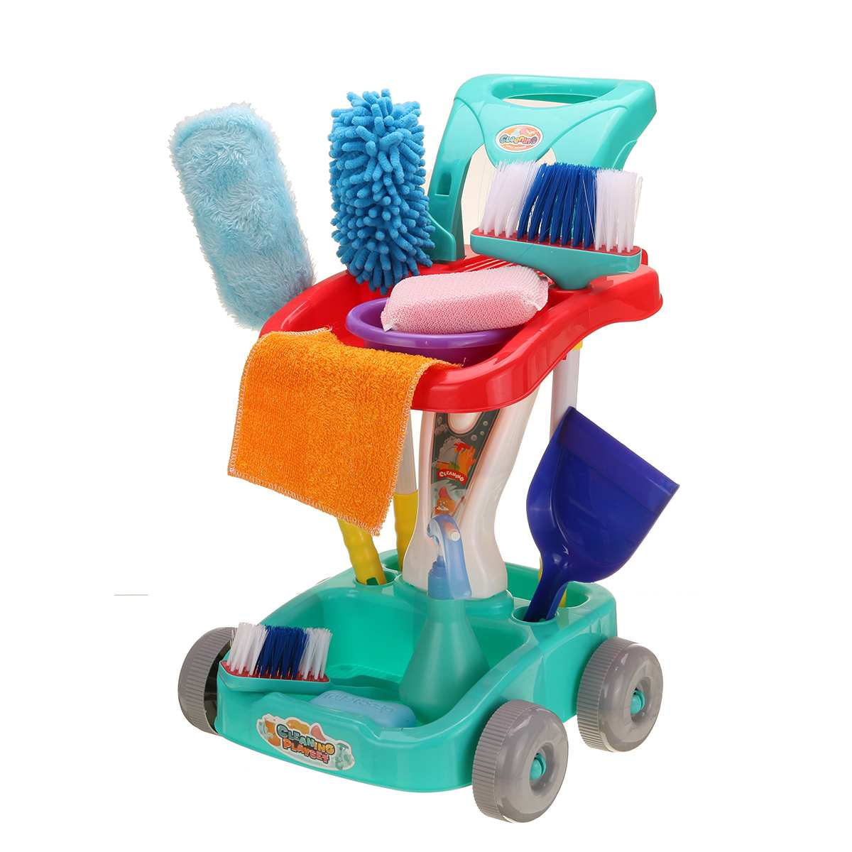 22 PCS/Set Simulation Mini Housekeeping Toys Home Cleaning Cart Set Educational Kids Play Learning Development For Boys Girls