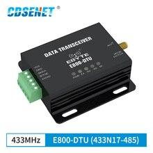 433MHz LoRa RS485 مودم DTU لمسافات طويلة 2 كجم 17dBm الإرسال والاستقبال اللاسلكية الارسال الرقمية وحدة FEC PLC استقبال