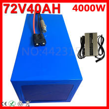 72V 40AH Electric Bike battery 72V 2000W 3000W Electric Scooter Battery 72V 20AH 25AH 30AH 35AH 40AH Lithium EBike Battery Pack(China)