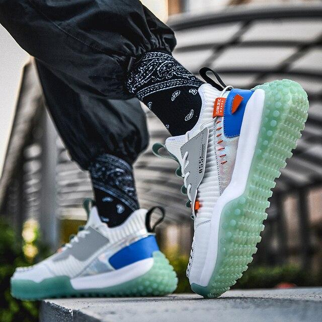 Zapatillas de correr transpirables para hombre, zapatos antideslizantes de alta calidad para correr al aire libre, cómodos y resistentes 6
