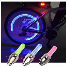 1 шт. светодиодные велосипедные фонари вентиль шины колеса шлемов велосипед колпачки светящиеся задние колесо с подсветкой световое предупреждение свет горный велосипед аксессуары