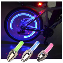 1PCS LED Bicycle Lights Wheel Tire Valve Caps Bicycle valve light tail light wheel light warning light mountain bike accessories фара для велосипеда valve light 2 x 5 bicycle light