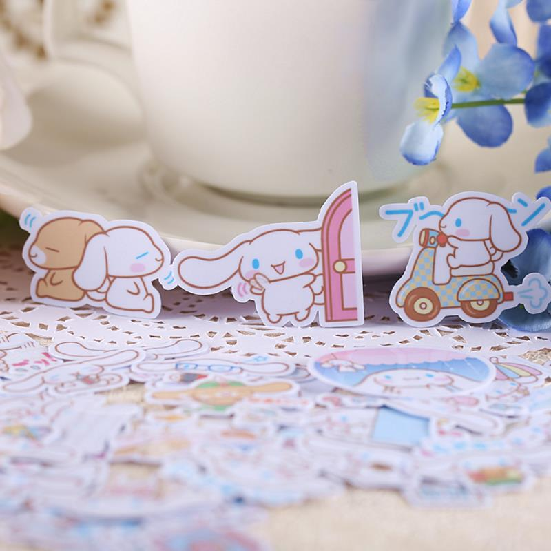 40pcs Hot Sale Cute Self-made Cinnamoroll Dog Stickers Scrapbooking Stickers Decor Label Diary Album Stickers Classic Toys Gift