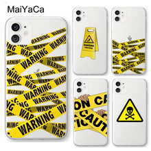 MaiYaCa Funny Caution tape Danger Clear Case For iP