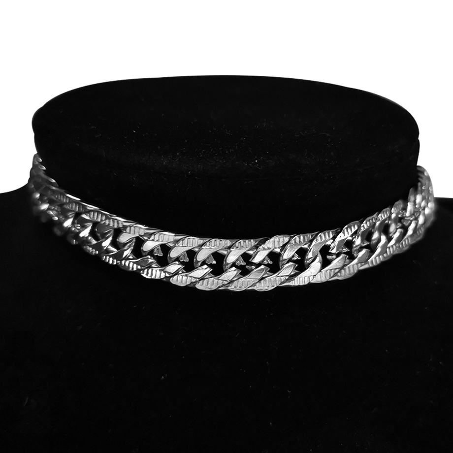 Punk Stainless Steel Choker Necklace For Women Silver Color Short Big Thick Neck Chain Chokers Necklaces Jewelry Neckless 2020(China)