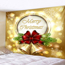 Christmas bell  Art Home Wall Hanging Tapestry Wall Ornamentation Christmas Wall Decor High Quality Tapestry Home Decor