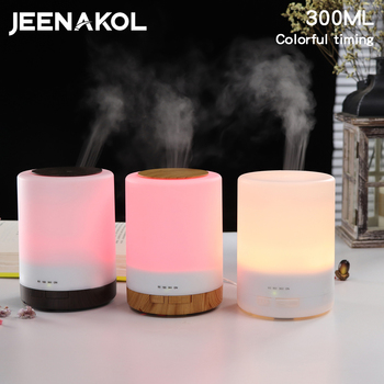 300ML Large Capacity Humidifier Mute Home Aromatherapy Machine Bedroom 7 Color Humidifier Energy Saving Ultrasonic air Purifier free shipping parts new air humidifier domestic large capacity humidifier humidification mute office mini aromatherapy timing