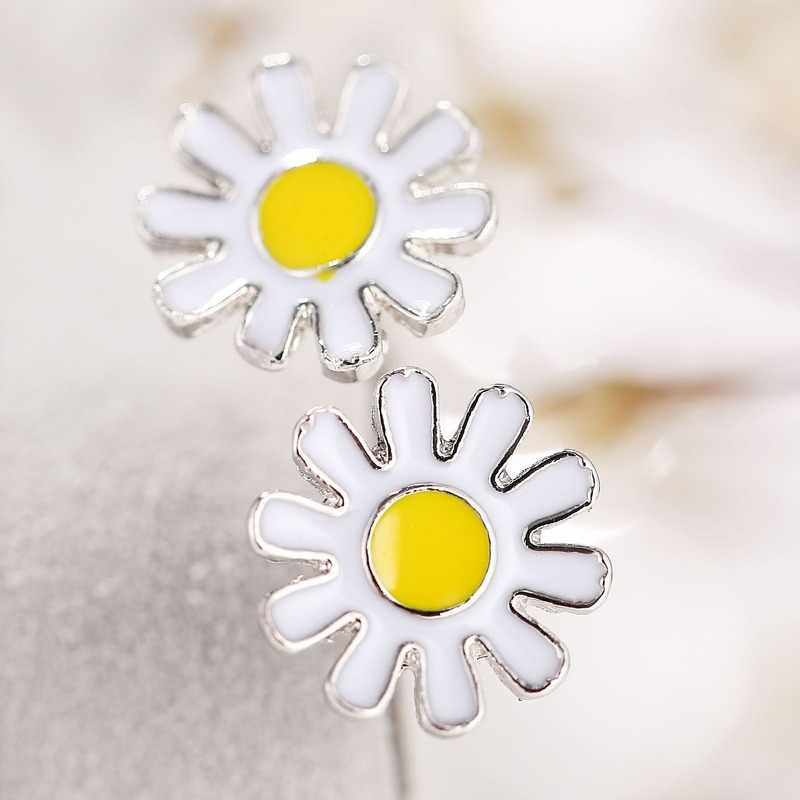3 pçs flor conjuntos de jóias temperamento crisântemo aberto anéis elegante colar floral brincos do parafuso prisioneiro casamento conjuntos de jóias de noiva