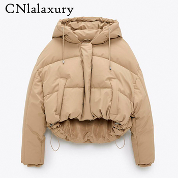 2020 New Winter Thick Warm Hooded Parka Coat Women Solid Zipper Jacket Outerwear Female Casual Loose Short Overcoat Tops Ladies 1