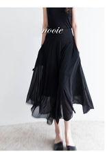 2021 summer women s new fashion design irregular black elegant skirt