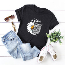 Plus Size S-5XL 100%Cotton TShirt New Daisy Letters Print T-Shirt Women O Neck Short Sleeve Tees Summer Young Girl T Shirt Tops
