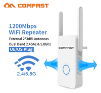 1200Mbps Dual band Wireless Network Wifi Extender/Repeater/AP/Router 5.8Ghz Wi fi Range Extender signal amplifier Antenna