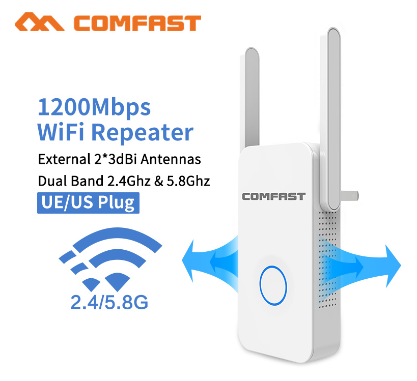 1200Mbps Dual-band Wireless Network Wifi Extender/Repeater/AP/Router 5.8Ghz Wi fi Range Extender signal amplifier Antenna