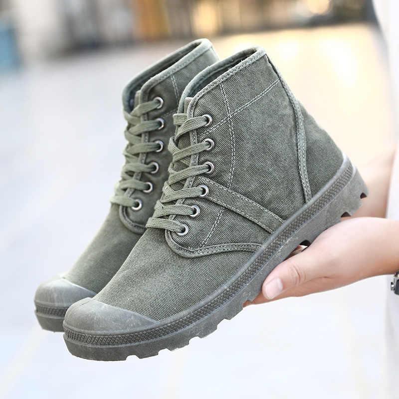 Byt płucienny w połowie-górna męskie buty Retro-stary brytyjski rozrywka wysokiej-górna męskie wspinaczka górska Martin buty zrobić stare buty z tkaniny