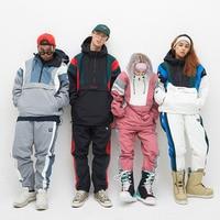 Men And Woman 'S Waterproof Mountain Snowboarding Jacket Winter Windproof Warm Ski Snowboarding Clothing Multi Pockets Suits