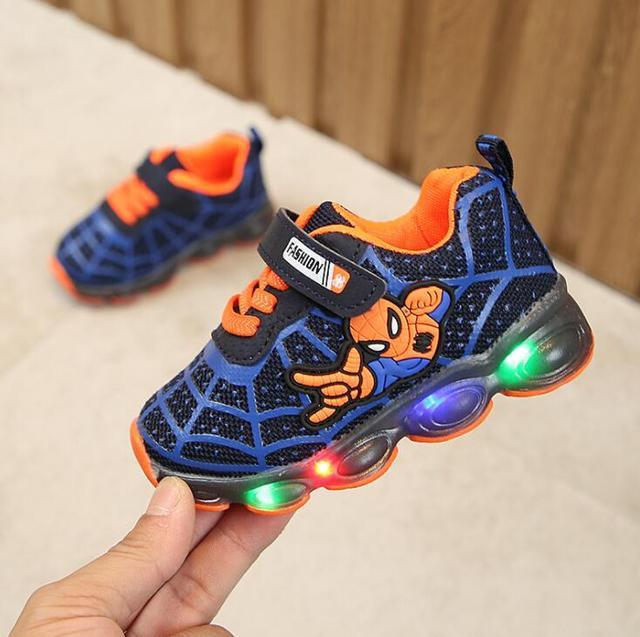 Luminous Spiderman Kids Shoes for boys girls 3
