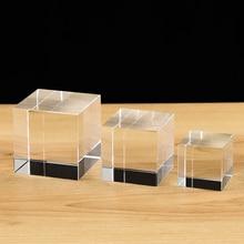 جودة عالية شفافة واضحة كريستال مكعب ثقالة الورق لتقوم بها بنفسك الزجاج فارغة للنقش