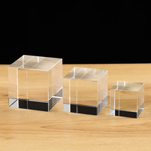 Hohe Qualität Transparent Klar Kristall Cube Briefbeschwerer DIY Glas Blank für Gravur