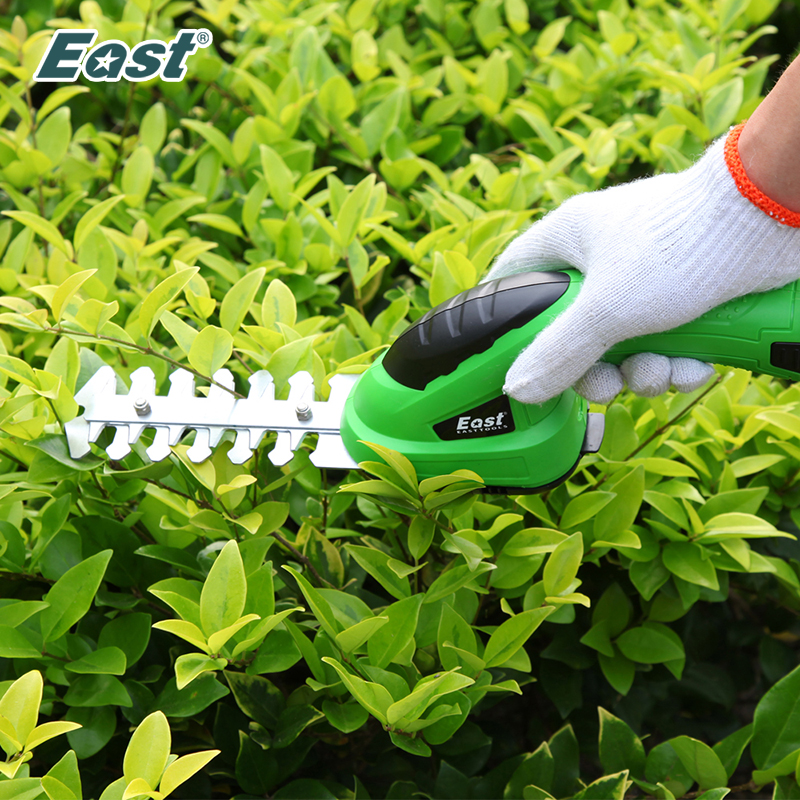 East Garden Tools 3.6V Lithium 1500mAh Cordless Grass Trimmer Hedge Trimmer Pruning Shears Lawn Mower