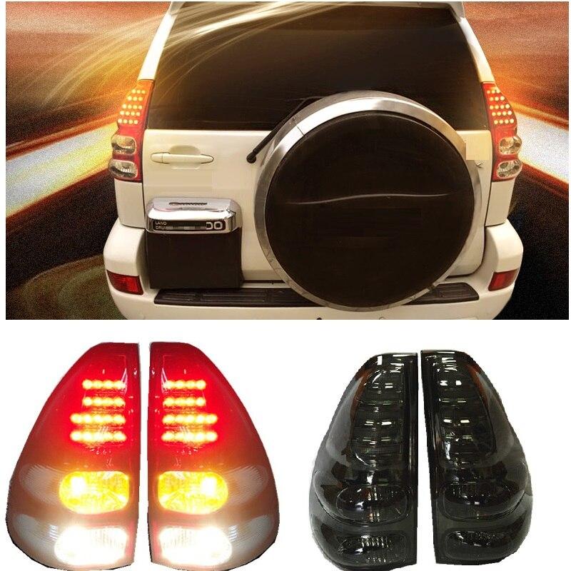 Внешние автомобильные аксессуары, светодиодный задний фонарь, задние лампы, подходят для PRADO FJ120 LC120 SUV 4*4, автомобильные запчасти, светодиодн...