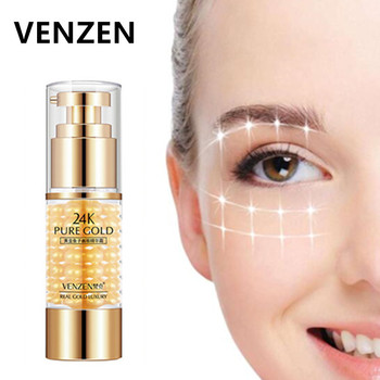 VENZEN 24K Pure Gold Eye Cream Serum Remover Dark Circles And Eye Bags Caviar Eye Cream Anti Wrinkle Anti Aging Ageless Serum gold caviar collagen serum