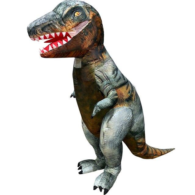 דינוזאור מתנפח תלבושות למבוגרים ליל כל הקדושים יורה העולם תחפושות תחפושת