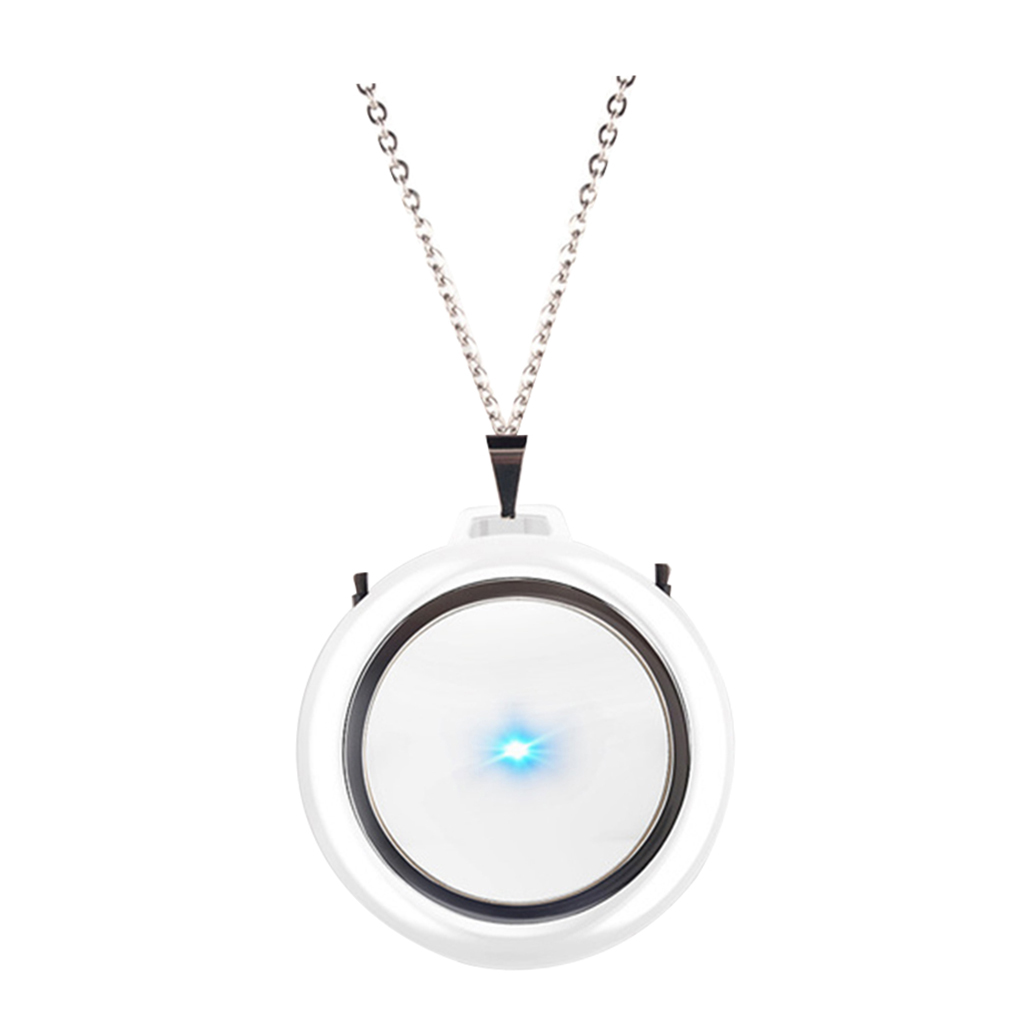 USB Portable Wearable Air Purifier, Personal Mini Air Necklace Negative Ion Air Freshener - No Radiation Low Noise for Adult Kid