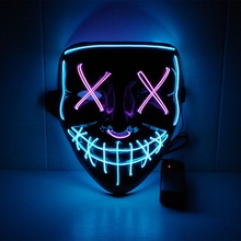Halloween Mask EL Party Masks Horror Masque Neon Mascara Cosplay Scary Masker Glowing Skull Props