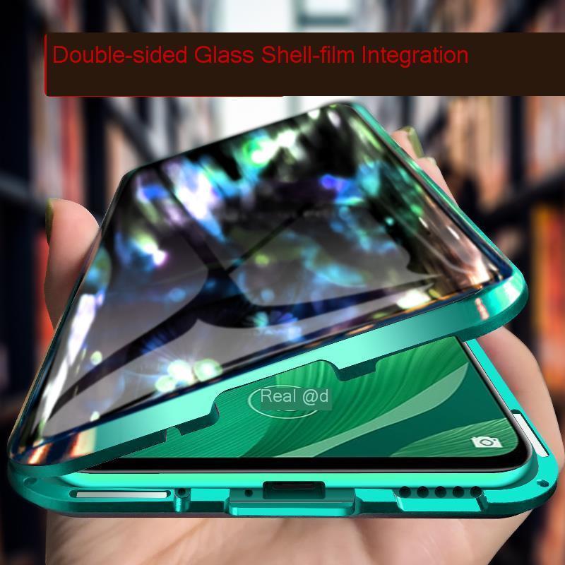 20 Metal Magnetic Case For Huawei Nova 5 Pro Mate 20 Double Sided 9H Tempered Glass Case On Nova 5 5i Honor 20 P30 Lite full Cover (1)