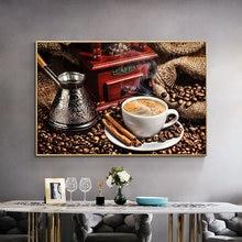 Кофейная тема искусство стен фотообои и принты кофейные зерна