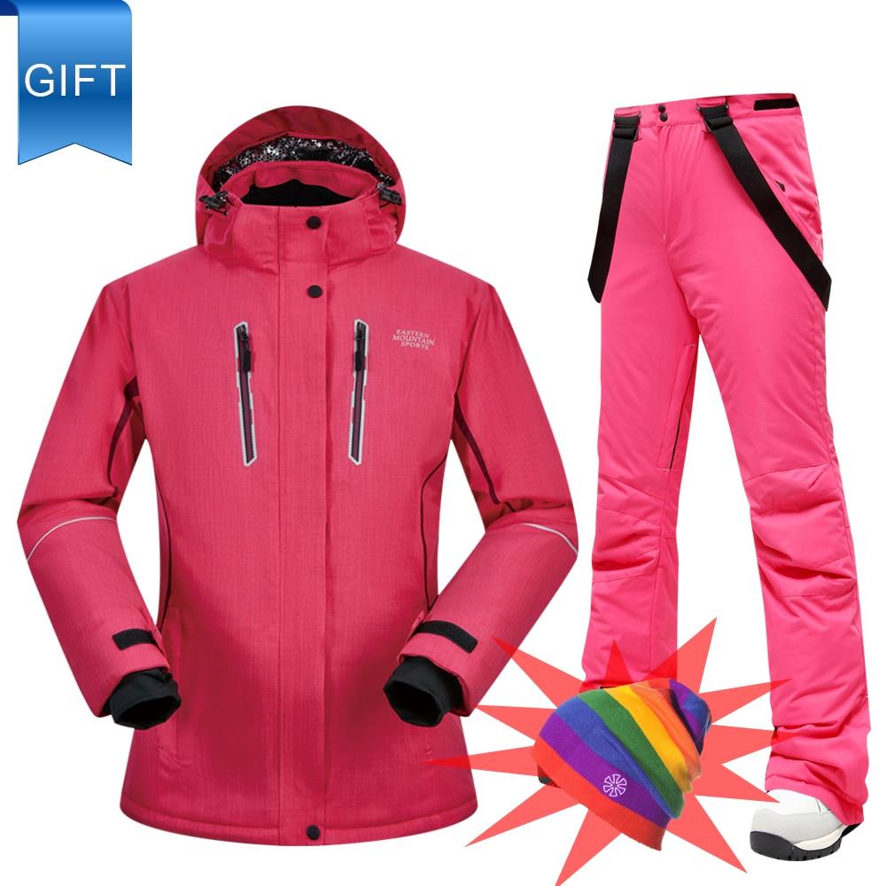 Ski Suit Women Winter Jacket Pants Snow Set Windproof Waterproof Breathable Super Warm Thick Skiing Snowboarding Suits Brands