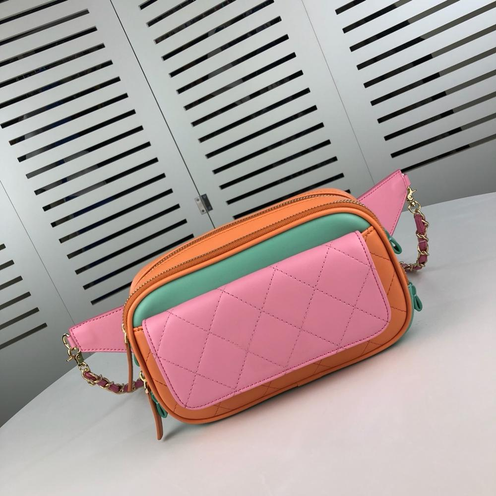 Waist Bags Women Cow Leather Mixed Colors Black Female Brand FashionFemale Belt Bag Penny Packs Top Quality Women Bags