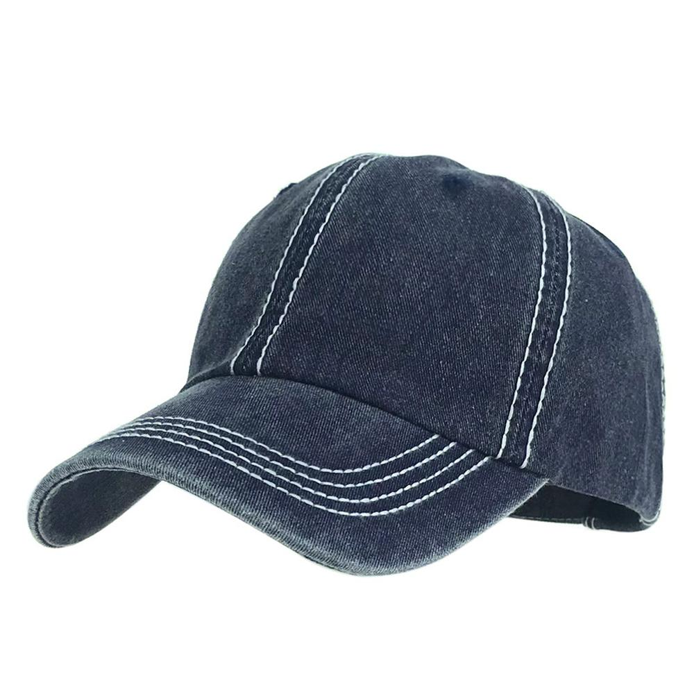 Unisex Baseball Caps Summer Spring Cotton Shade Simple Get Old Solid Color Outdoor Fashion 2020 New Boy And Girl