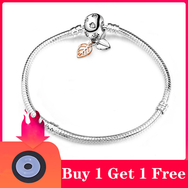 CHIELOYS High Quality Authentic Silver Color Snake Chain Fine Bracelet 4