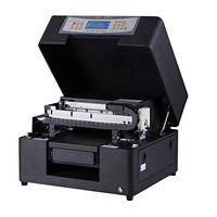 Good Leather printer with small format A4 size uv printer for sale