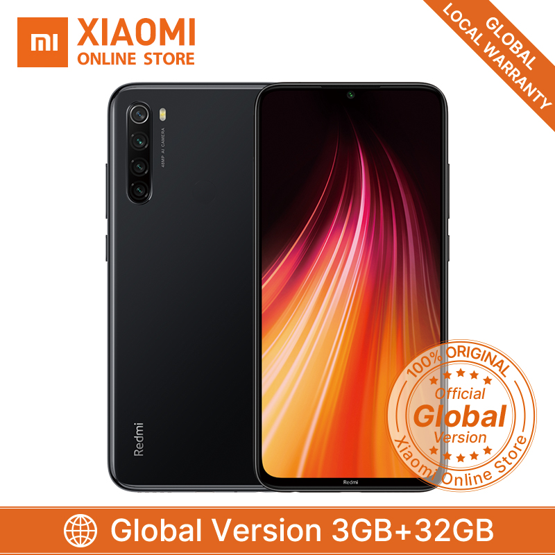 Global Version Smartphone Xiaomi Redmi Note 8 3GB 32GB Snapdragon 665 48MP Quad Camera 4000mAh Superbattery Telephone AI Beauty