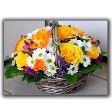 Алмазная мозаика diy вышивка цветные цветы корзина полная Картина