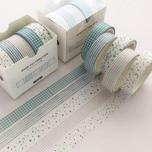 5Pcs/Set Grid Washi Tape Cute