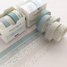 Juego de 5 unidades de cinta adhesiva decorativa Washi, cinta adhesiva de Color sólido para Pegatinas, cinta de papelería para Scrapbooking, bricolaje