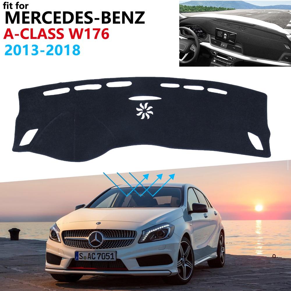 Dashboard Cover Protective Pad for Mercedes Benz A-Class W176 2013 2018 Car Accessories Carpet A-Klasse A160 A180 A200 A45 2017