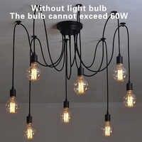 Mordern Nordic Retro Pendant Lights for E27 Edison Bulb Light DIY Art Spider Pendant Lamp Vintage Fixture Light Kitchen Bedroom