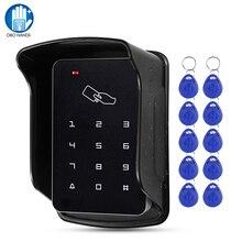Sistema de controle de acesso rfid 125khz, à prova dágua, uso externo, capa à prova de chuva, digital, leitor de cartão e controlador de teclado, 10 peças de teclas
