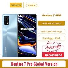 Rússia versão original realme 7 pro smartphone 6.4 polegada super amoled snapdragon 720g octa núcleo 65w carga superdart google play