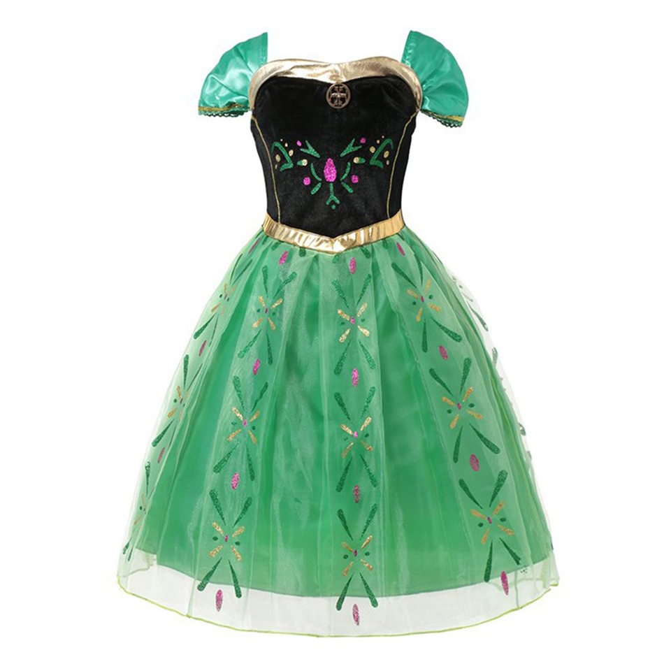 Hea487c58bfbb4a17ae15563634dea958D - Fancy Baby Girl Princess Clothes Kid Jasmine Rapunzel Aurora Belle Ariel Cosplay Costume Child Elsa Anna Elena Sofia Party Dress