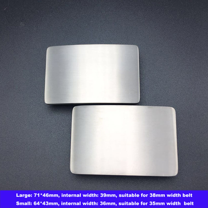 Mens Brushed Pure Titanium Alloy Belt Buckle Waist Strap Head Waistband Buckles 35 MM