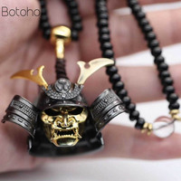 New Robbery Ghost Warrior Japanese Samurai Undead Sterling Silver S925 Pendant Men and Women Domineering Necklace free delivery