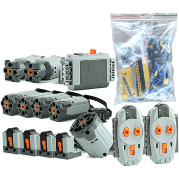 MOC 0853 Technic Motor Power Function Set For Mobile Crane Mk II Car 42009 Model Building Blocks Bricks DIY Toys image
