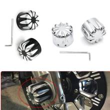 Motorcycle Front CNC Axle Nut Covers For Harley Touring FLHT Softail Fatboy FLSTF FLSTC XL1200X Dyna Wide Glide Fat Bob(China)