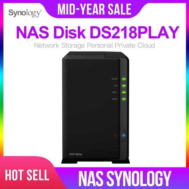 Synology の Nas ディスクステーション DS218play 2 ベイディスクレス nas サーバー nfs ネットワーク収納クラウドストレージ NAS ディスクステーション 2 年保証